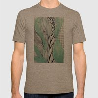 Vintage Pattern Mens Fitted Tee Tri-Coffee SMALL