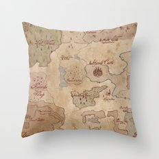 Map Of Hyrule- Legend Of… Throw Pillow