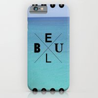 With blue love iPhone 6 Slim Case