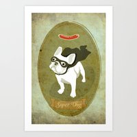 Super Dog Art Print