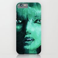 iPhone & iPod Case featuring THE GREEN QUICK PORTRAIT by Maud Villers