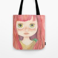 Blythe Doll Watercolor Tote Bag