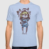 Finn the Human Mens Fitted Tee Athletic Blue SMALL