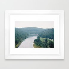 Living by the Susuequenna River Framed Art Print