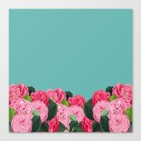 Floral & Turquoise Canvas Print