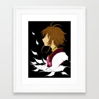 Framed Art Print featuring Lost Wings by Mickey Spectrum