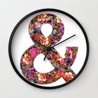 & Ampersand Print Wall Clock