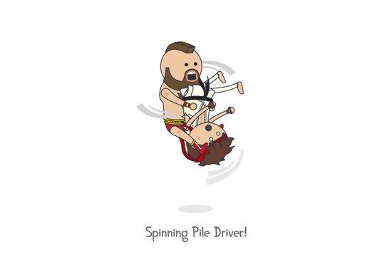 Spinning Pile Driver Art Print