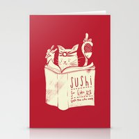 Sushi for Cats Stationery Cards