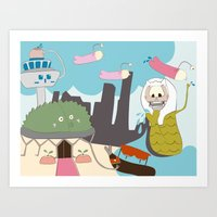 Tales From Singapore Art Print