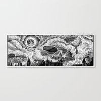 Steampunk Skyline Canvas Print
