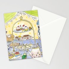 high tea party Stationery Cards