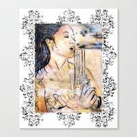 Caliber Love #4 Ornate Canvas Print