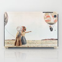 trip to the moon, collage iPad Case