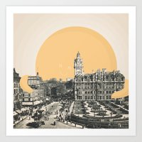 A Hug for Edinburgh Art Print