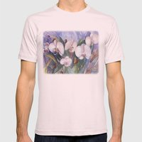 Orchid Fantasy Mens Fitted Tee Light Pink SMALL