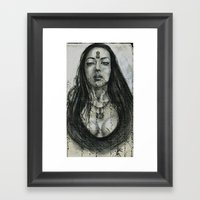 Key To Her Thoughts Framed Art Print