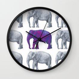 Wall Clock - Elephants - LaVieClaire