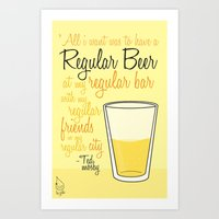 Tv Drink Quotes [how I M… Art Print