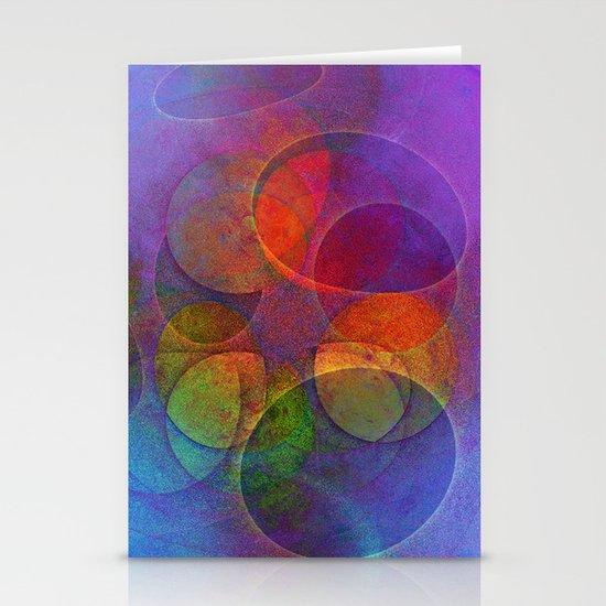 Rainbow Bubbles Stationery Card