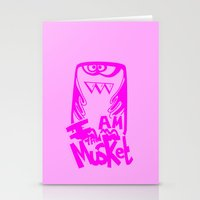 I AM THE MUSKET - PINK Stationery Cards