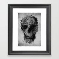 Skull 2 / BW Framed Art Print