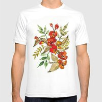 Floral 28 Mens Fitted Tee White SMALL