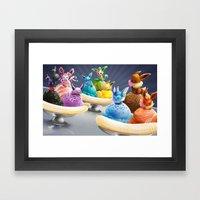 Evolution Banana Splits Framed Art Print