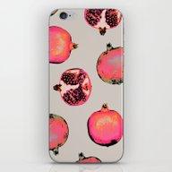 iPhone & iPod Skin featuring Pomegranate Pattern by Georgiana Paraschiv