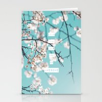 Live Your Life and Be Awesome Stationery Cards