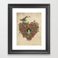 Home Is Where The Heart … Framed Art Print