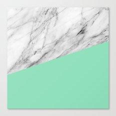 Carrara marble and sea Canvas Print