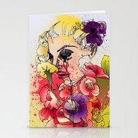 When The Petals Start Po… Stationery Cards