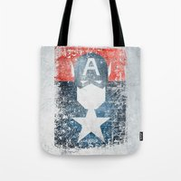 Yankee Captain grunge superhero Tote Bag