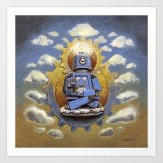 Buddha Bot v5  Art Print