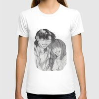 anime T-shirts featuring Anime Couple by Ugurcanozmen