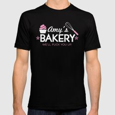 Amy's Bakery SMALL Mens Fitted Tee Black