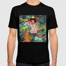 The Lizard Queen Black Mens Fitted Tee SMALL