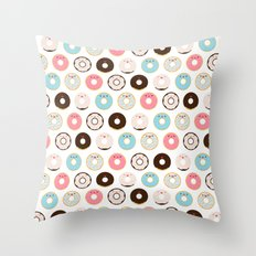 Super Sweet Donuts Throw Pillow