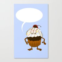 Angry Cupcake (Fill in the blank!) Canvas Print