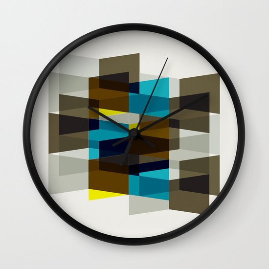Aronde Pattern #03 Wall Clock