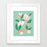Floating Tulips (mint green) Framed Art Print