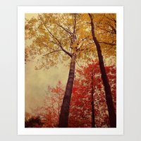 Autumn Couple Art Print