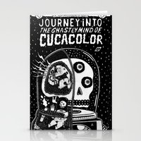 journey in to the ghastly mind of cucacolor Stationery Cards