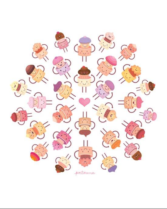 Cupcake Mandala Art Print