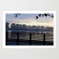 The Dock At Night Art Print