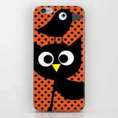 Black cat and raven iPhone & iPod Skin
