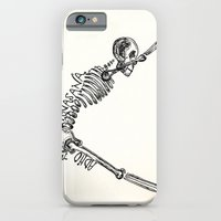 "iPhone & iPod Case featuring ""Adho Muka Svanasana"" Skeleton Print by devonstorm"