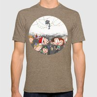 There Are CHRISTMAS Stri… Mens Fitted Tee Tri-Coffee SMALL