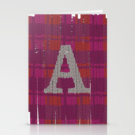 Winter clothes. Letter A III. Stationery Card